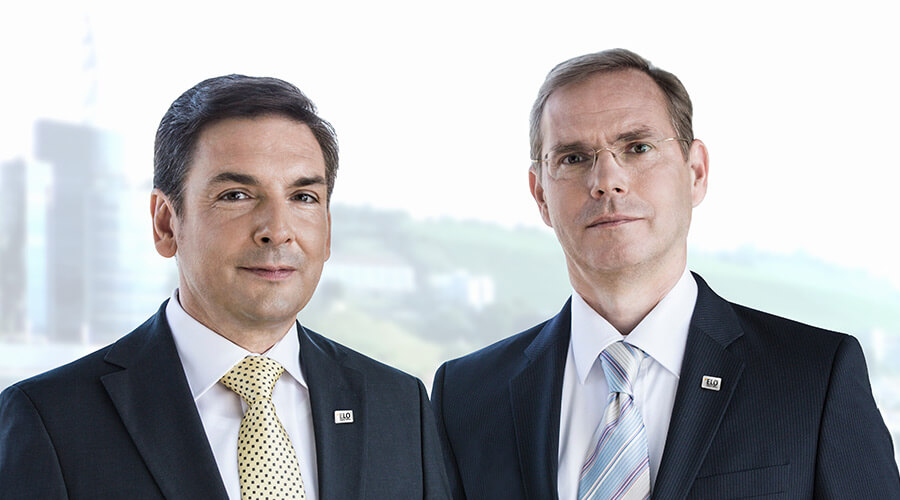 ELO managing directors Mosbach and Thiele